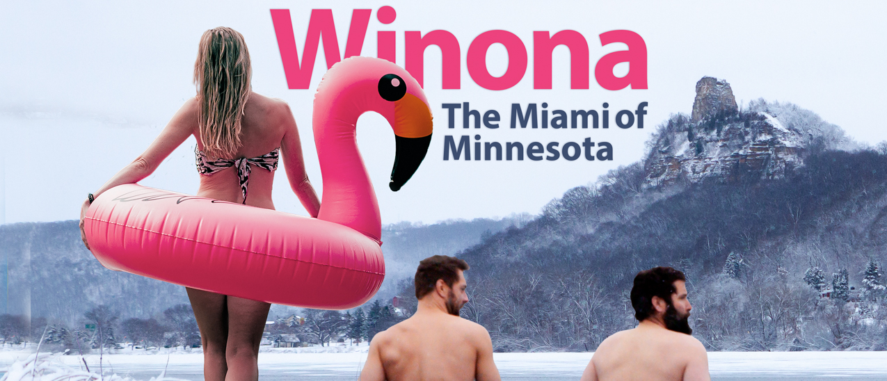 winona minnesota miami of minnesota visit winona pink flamingo winter