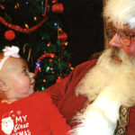 Winona County History Center Winona Minnesota Christmas Event Santa and Child