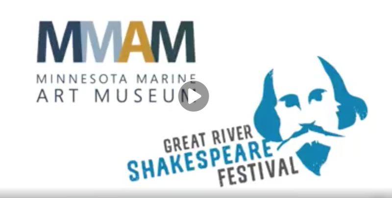 minnesota marine art museum, great river shakespeare festival, painting poetry, video series, Facebook, winona mn, southeastern minnesota
