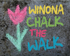 chalk the walk program winona mn winonarts.com fine arts commission sidewalk art program southeastern minnesota