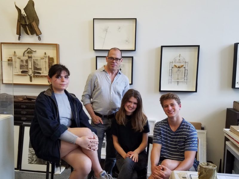 Visual AIDS Summer Interns (Jaime Tortorelli, Elizabeth Trefney, and Taylor Drake)At Eric Rhein's Studio