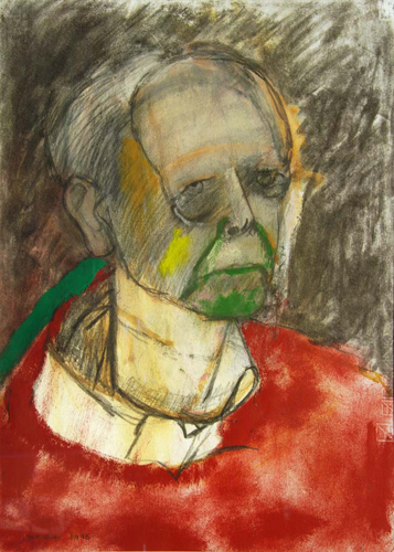 Alzheimer's Self-Portraits Red