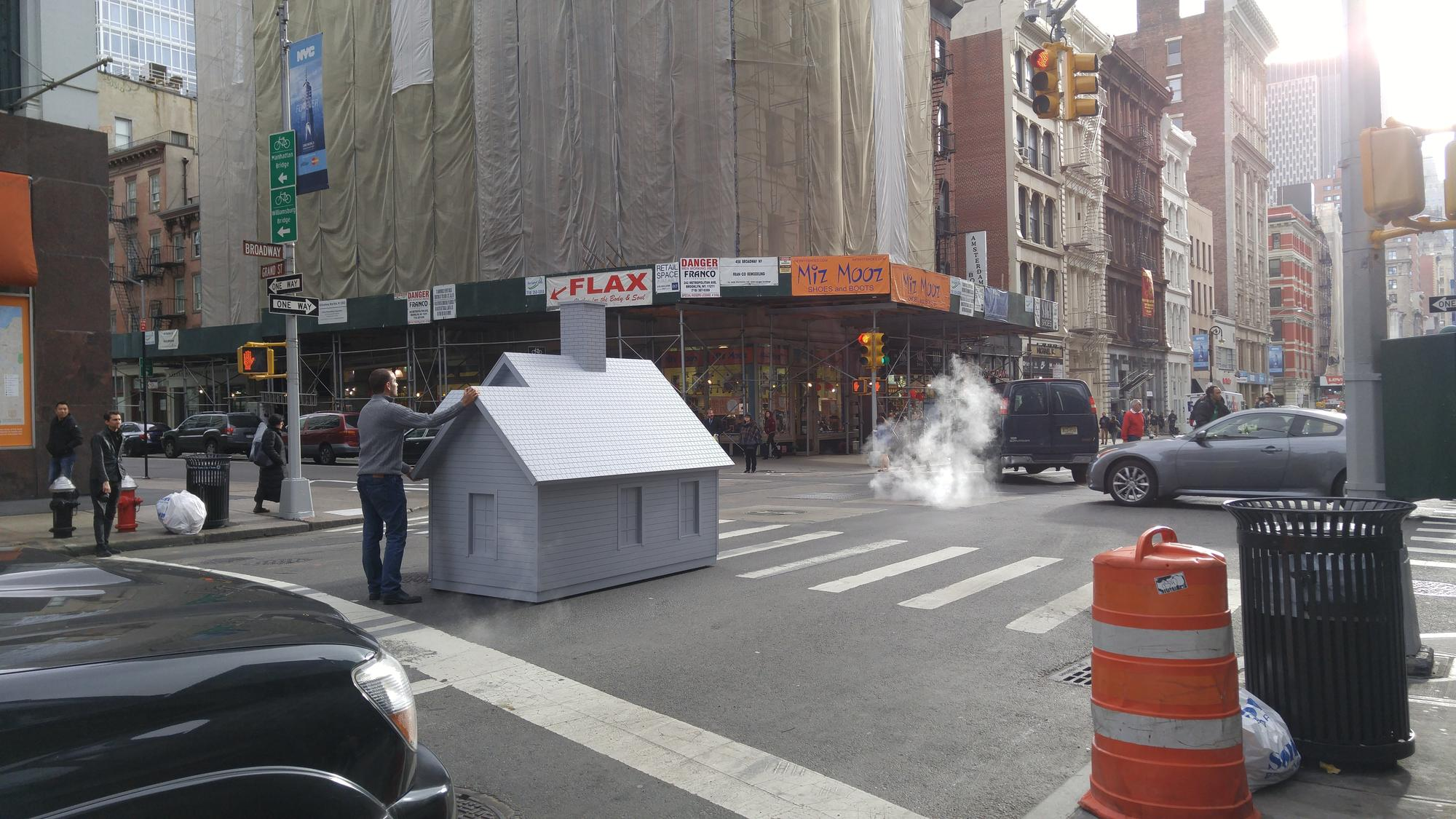 Why Was this Artist Pushing a Tiny House Through NYC
