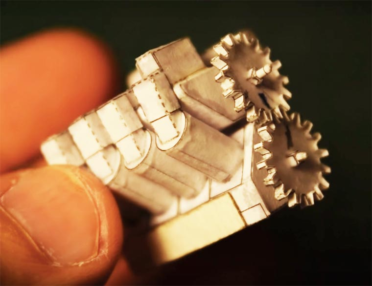 miniature-paper-V8-engine-2