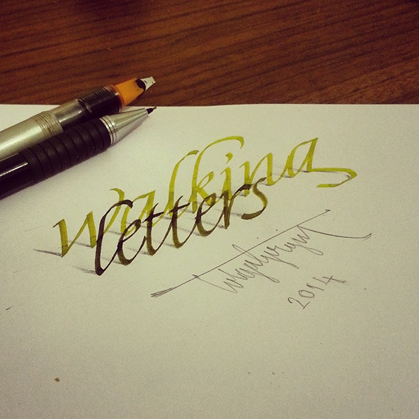3D Calligraphy, by Tolga Girgin