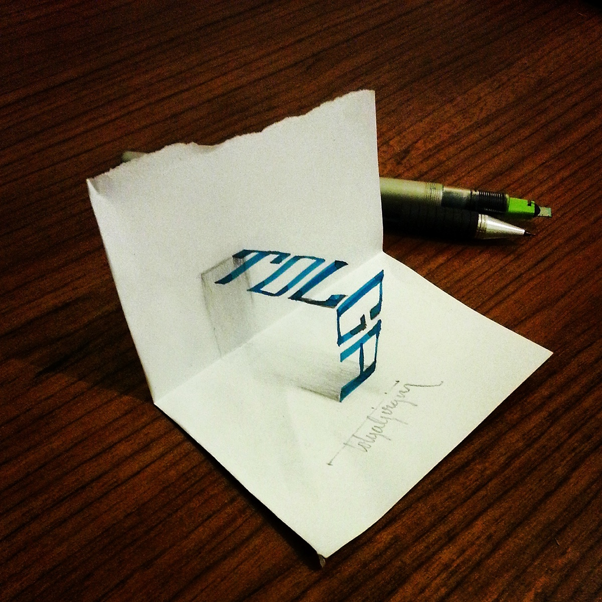 3D Calligraphy, by Tolga Girgin