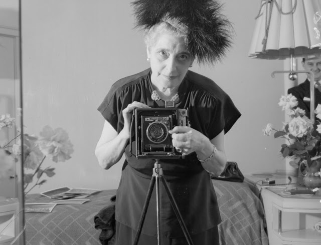 Photographer Florence Vandamm, 1947. From 1925 to 1950 she was the photographer of record for Broadway, capturing many stars of the stage.