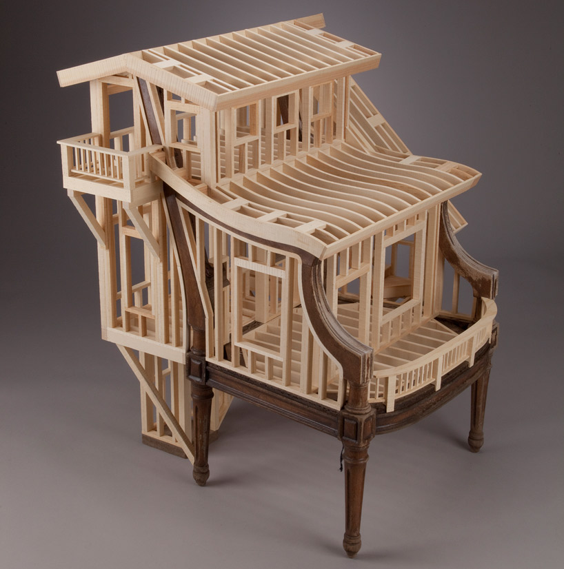 Ted Lott Builds Architectural Framing Into Vintage Furniture