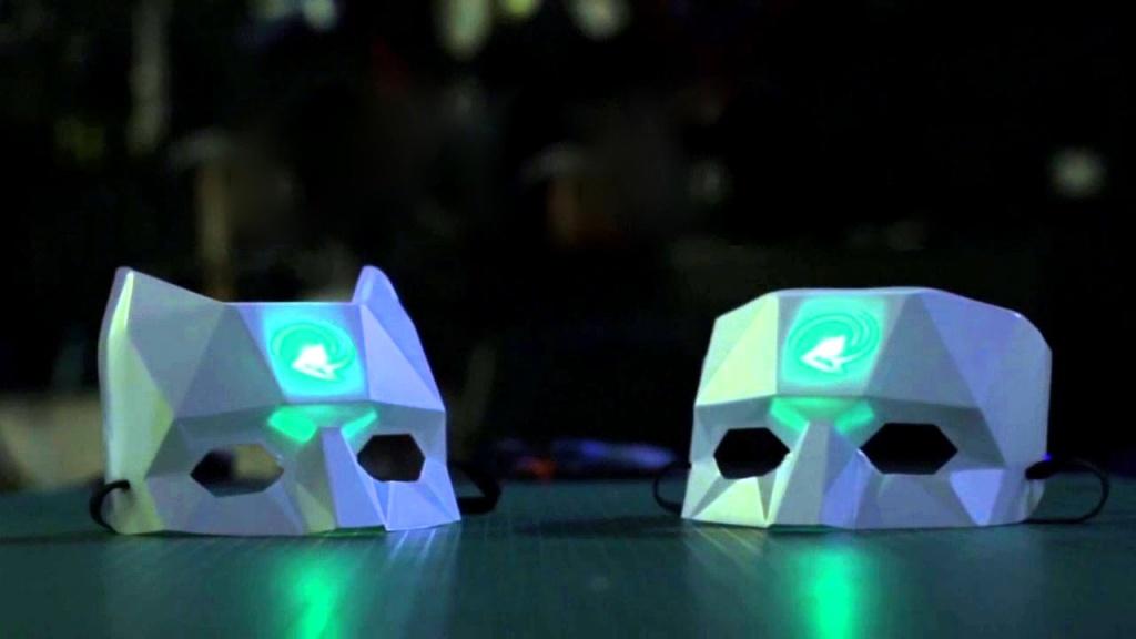 Light-Up Social Masks, by Skol Beats.