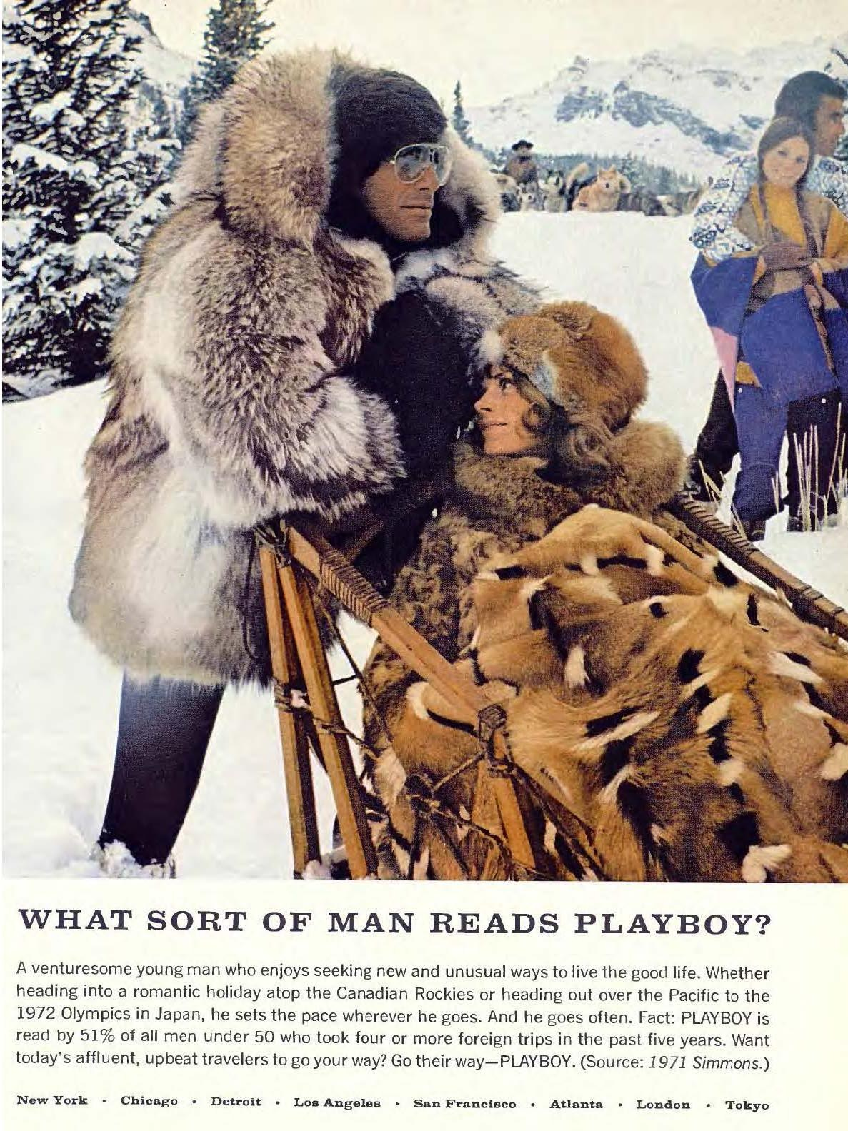 What sort of man reads Playboy 03 March 1972