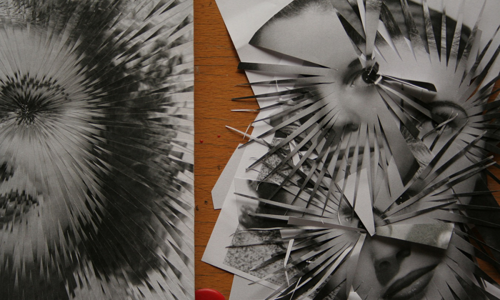 Collage Artist Uses Paper as Shrapnel to Create Shattered Portraits