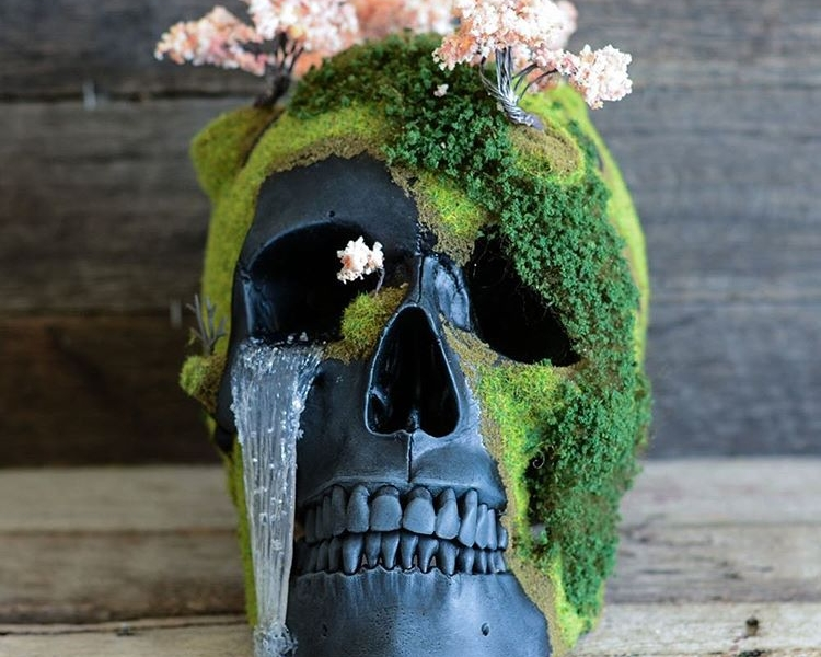 Bonsai Skull Art