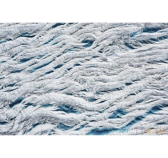 Greenland Ice Sheet Aerial Photo
