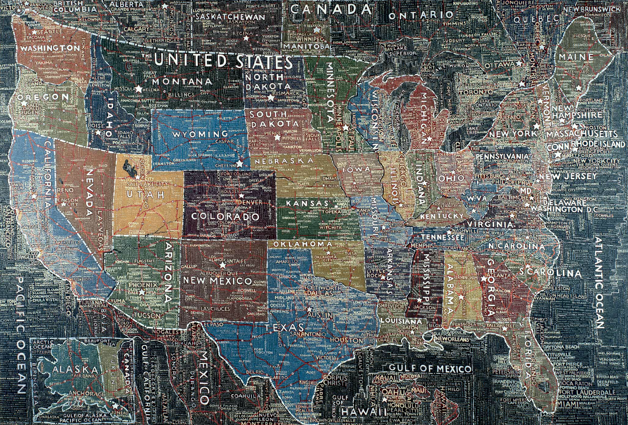 Fresh layered maps of USA