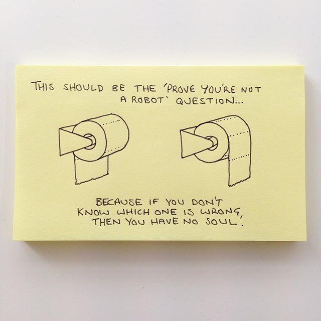post-it toilet paper