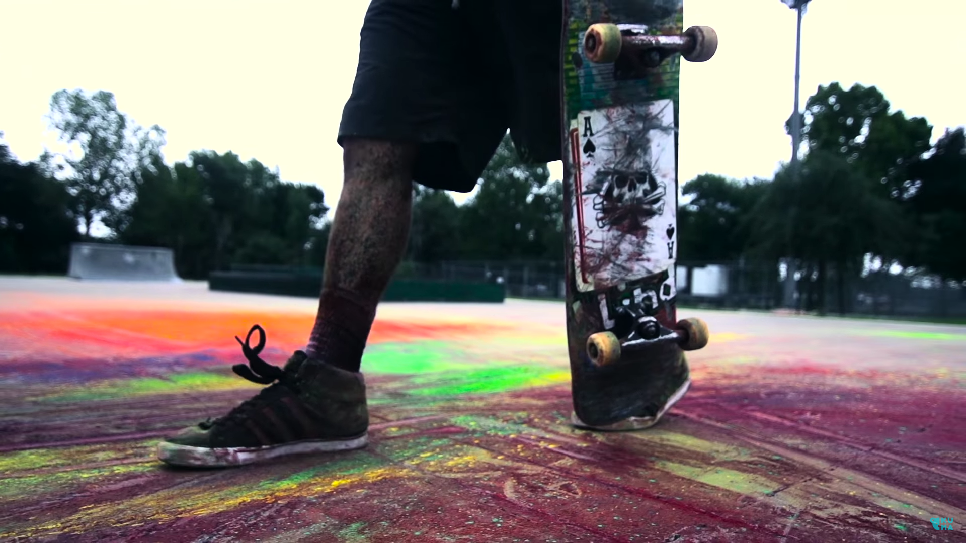 Slow-Motion Skateboard Start