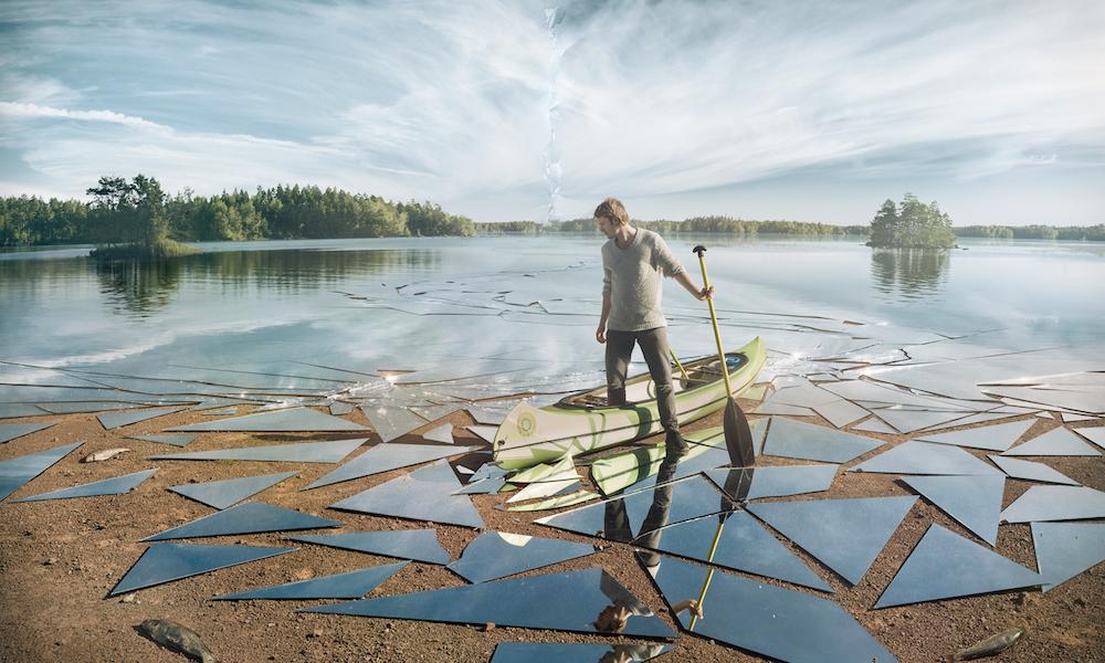 """""""Impact,"""" a lake of mirrors, by Erik Johansson"""