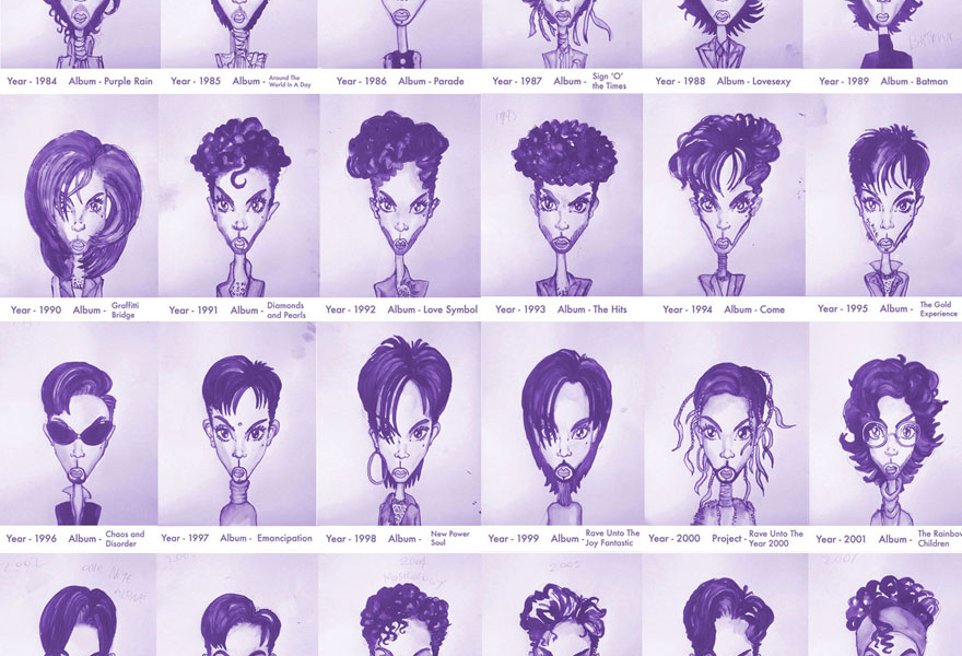 Prince Sketches, by Gary Card
