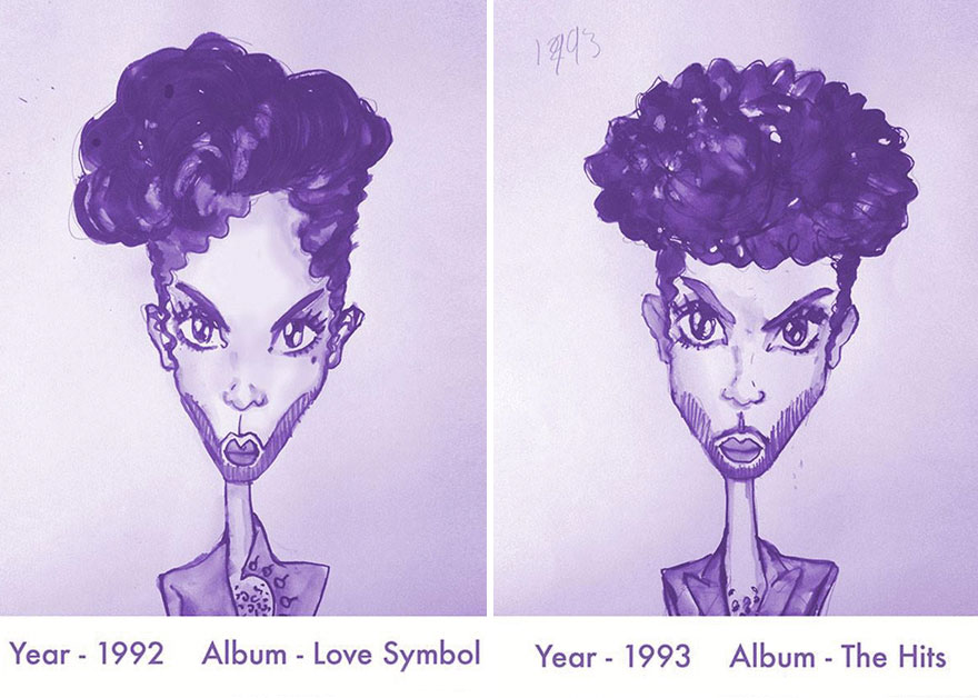 Admirable Witness Princes Legacy Of Hairstyles In Purple Illustrations Short Hairstyles For Black Women Fulllsitofus
