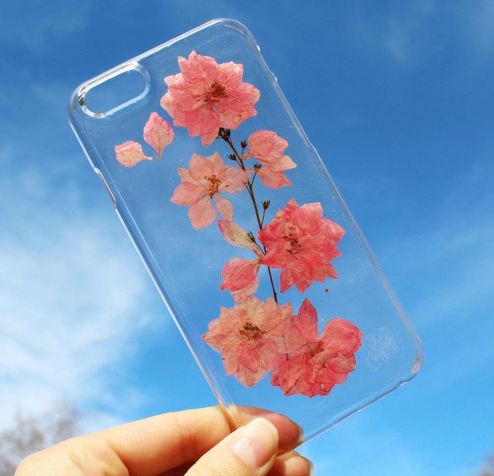 house of bling pressed flower phone case 5
