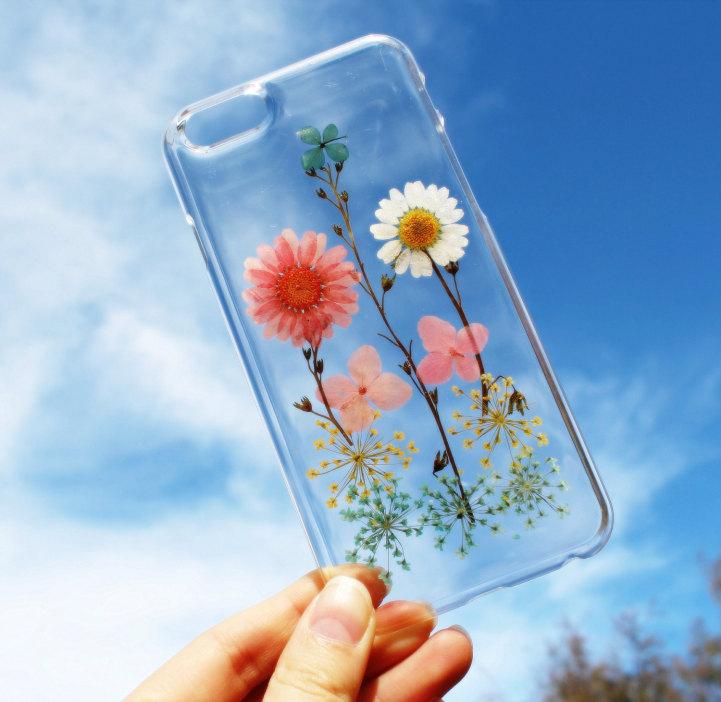house of bling pressed flower phone case 6