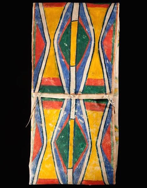 """A Nez Perce envelope parfleche, 13.75"""" x 27"""", from the late 1800s. (Courtesy of John Molloy Gallery)"""