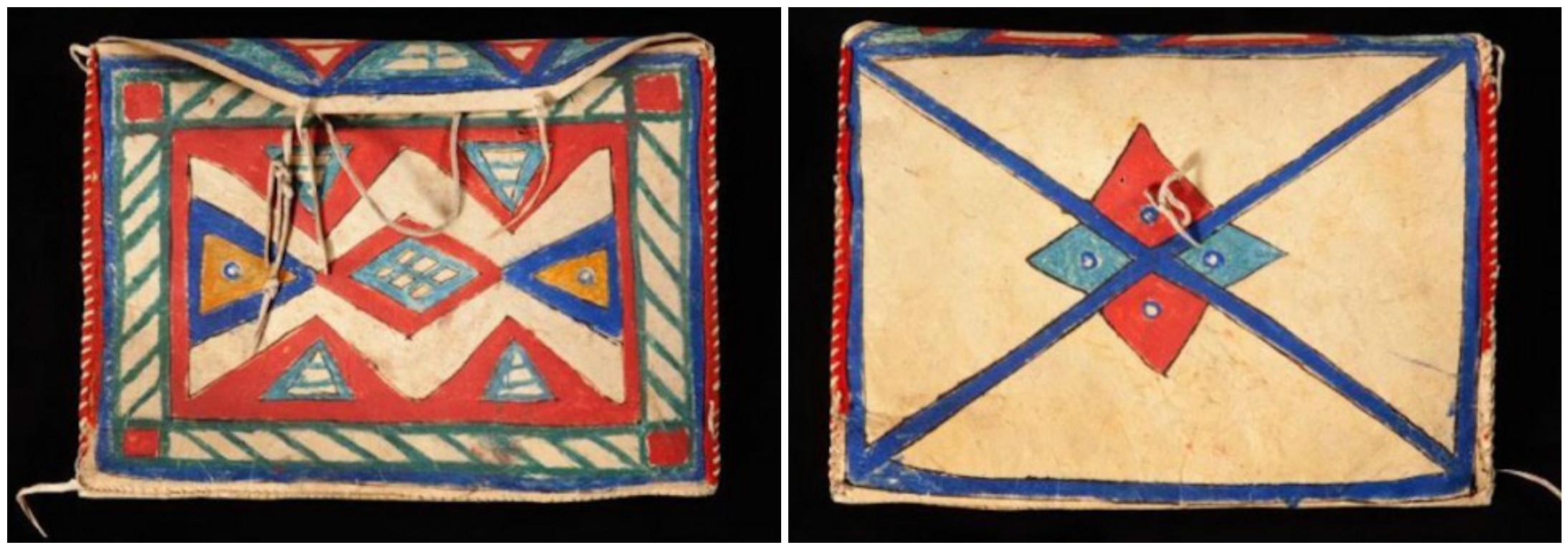 "Lakota document-case parfleche, 14"" x 9.5"", circa 1900. (Courtesy of John Molloy Gallery)"