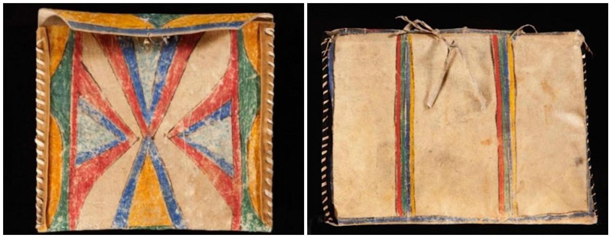 Lakota document-case parfleche, circa 1900. (Courtesy of John Molloy Gallery)