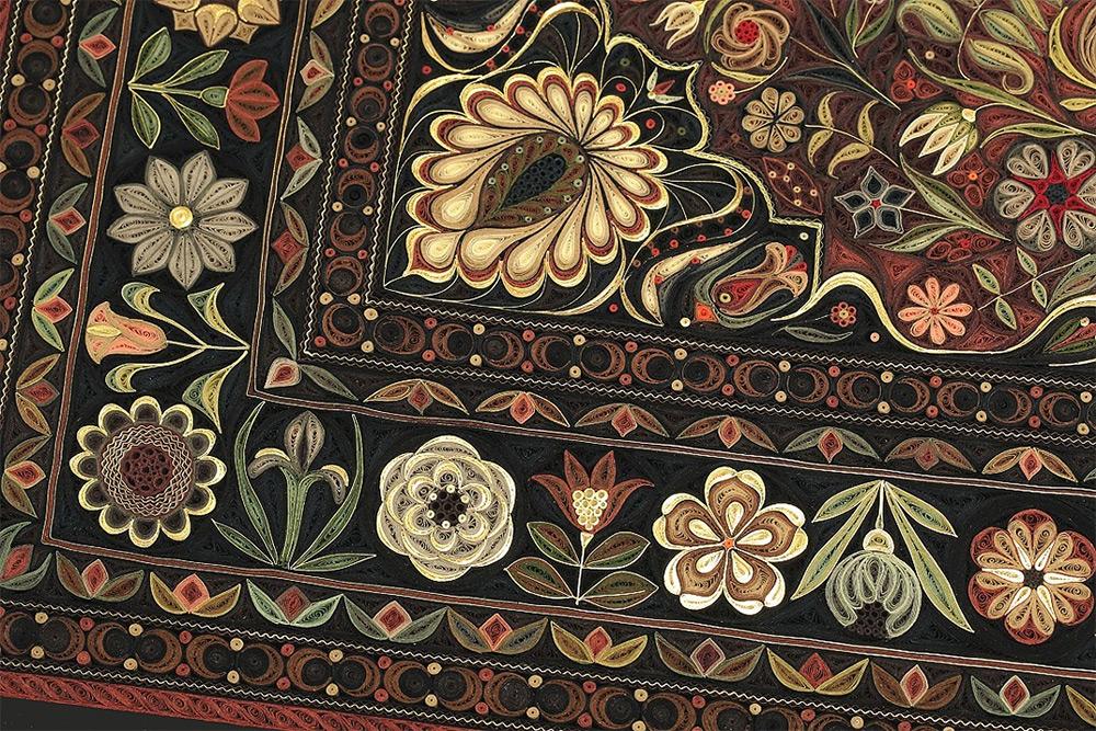 Quilling Carpet Closeup