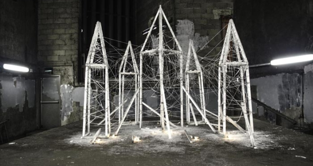 Désenchantement, an illegal street installation beneath Paris, by Radouan Zeghidour
