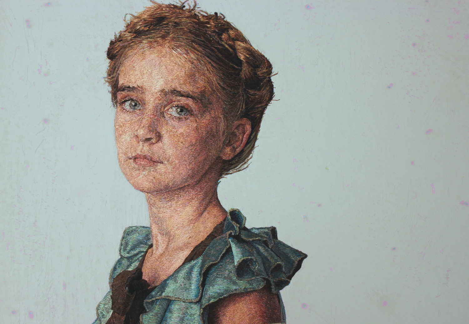embroidered little girl