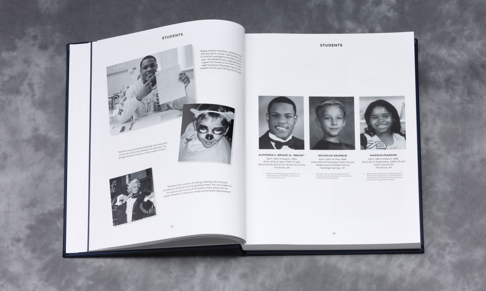 """Sign Their Yearbook,"" by Volt and New Yorkers Against Gun Violence"