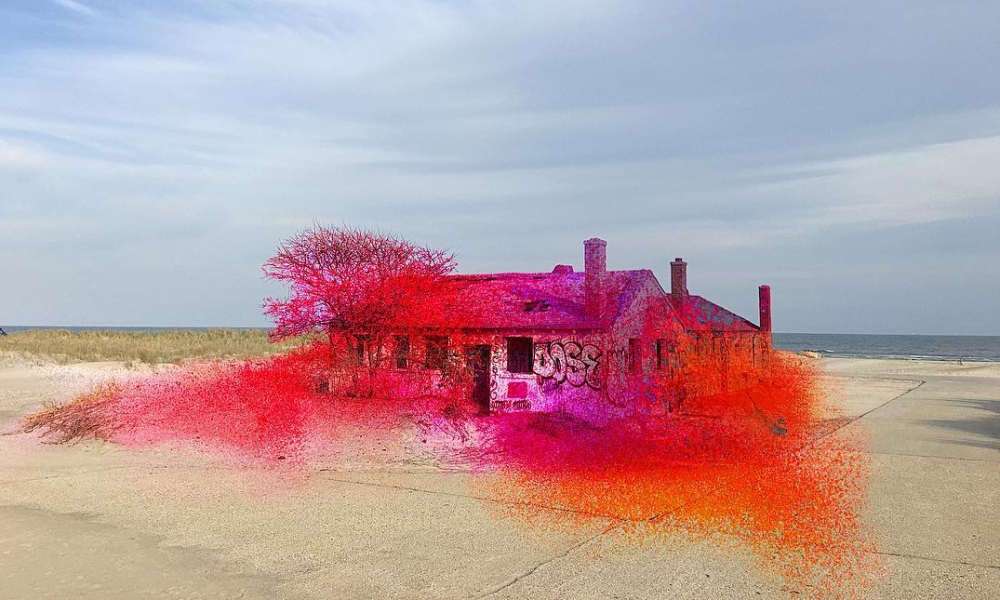 Rockway Spray Painted Beach House, by Katharina Grosse