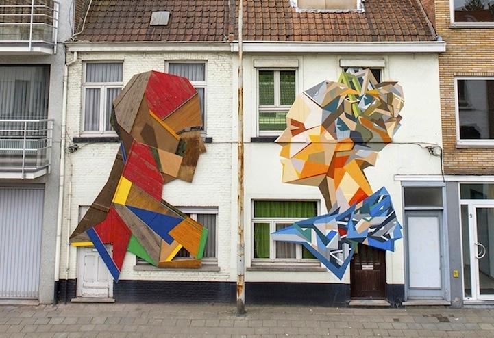 Discarded Doors Sculptures, by Stefaan De Croock