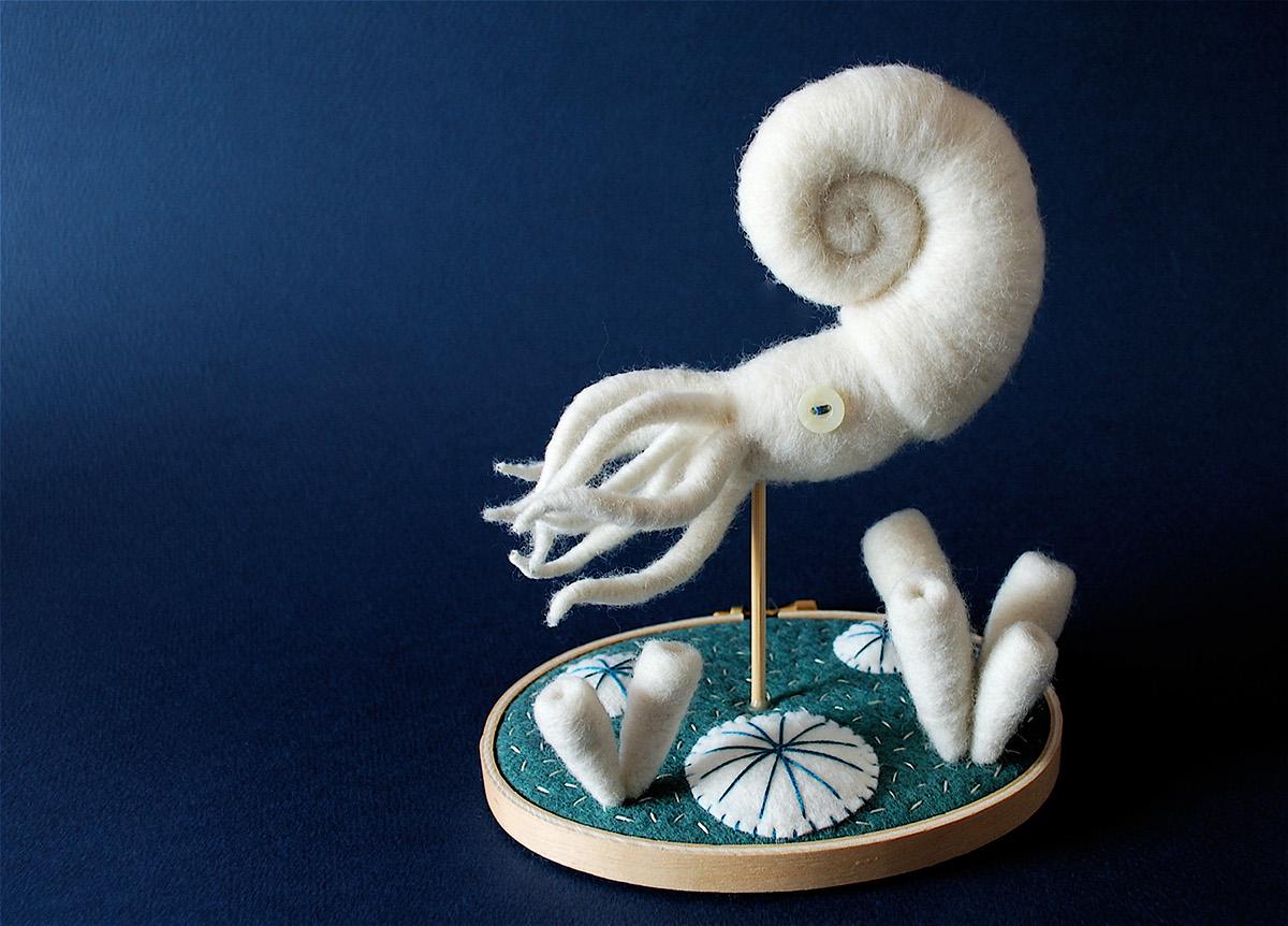 Felt Toy Specimens Nautilus