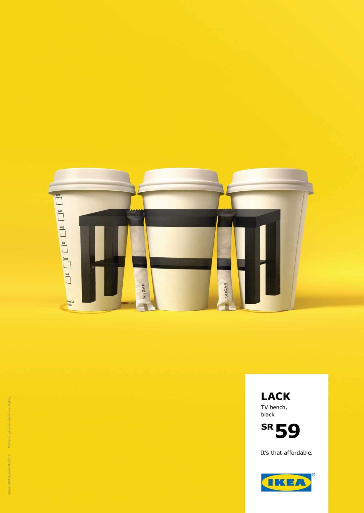 IKEA ad campaign table