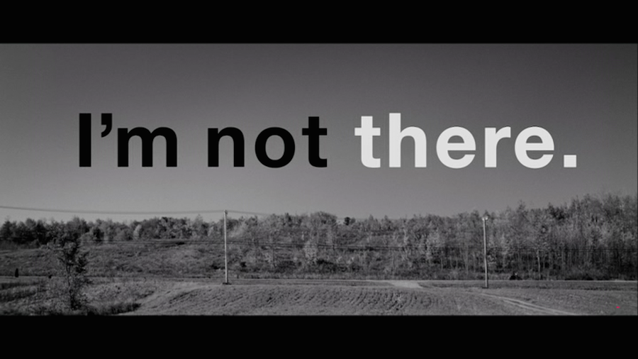 movie title design i'm not there