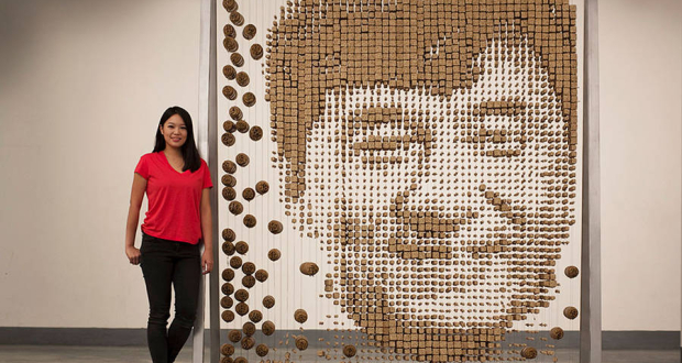 """Jackie Chain in Chopsticks, by """"Red"""" Hong Yi"""