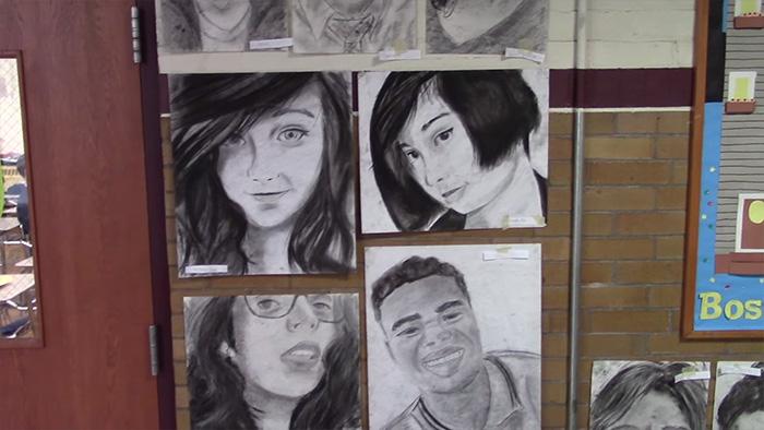 Student Phillip Sossou Drew Classmates to Celebrate Diversity