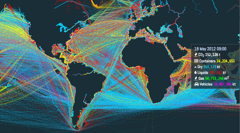 Interactive Shipping Routes Map