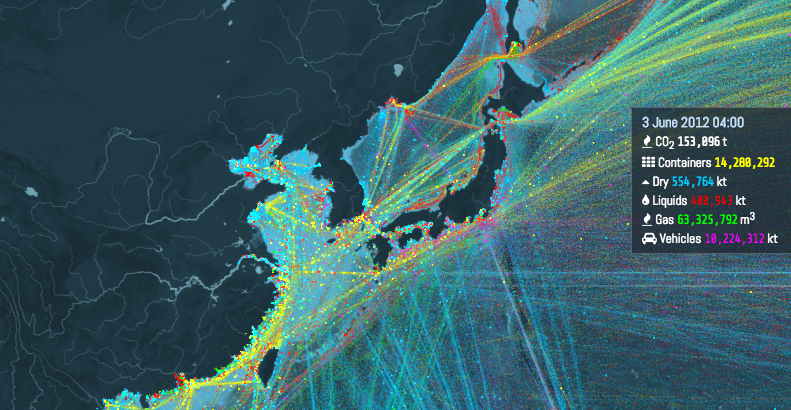 Interactive Shipping Routes Map4