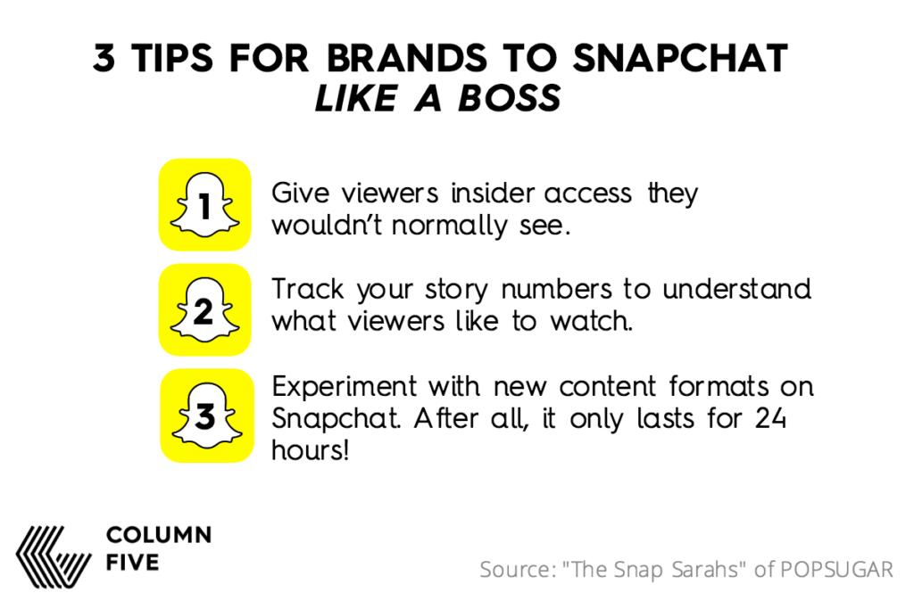 POPSUGAR Snapchat Tips