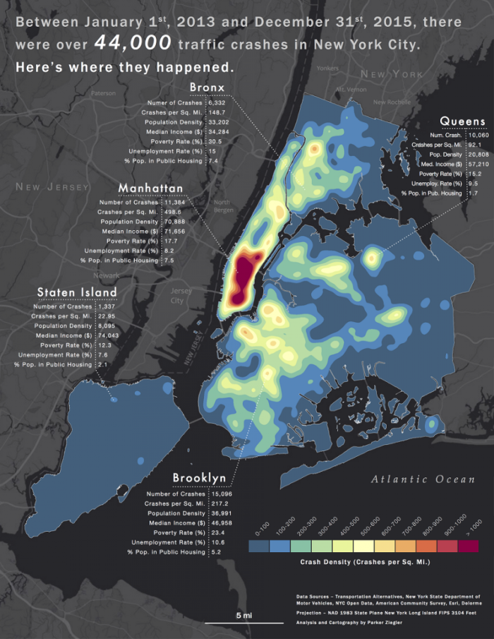 NYC Crash Map Data Visualization