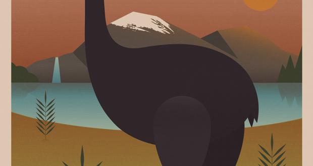 New Zealand Moa Poster