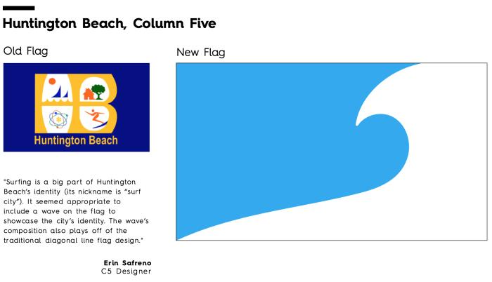 Flag Redesign: Huntington Beach