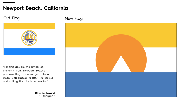 Flag Redesign: Newport Beach