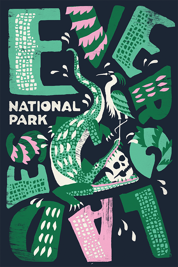 national parks posters: everglades