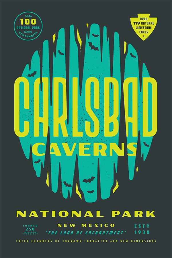 national parks posters: carlsbad canyons