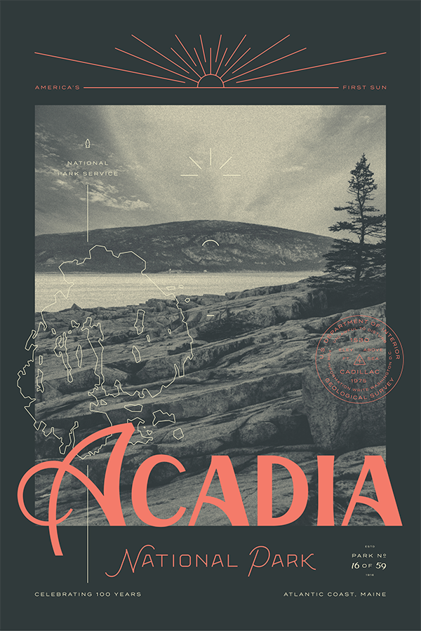 National Parks Posters: acadia