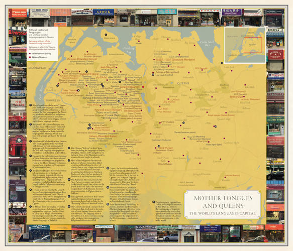 NYC Maps: mother tongues and queens
